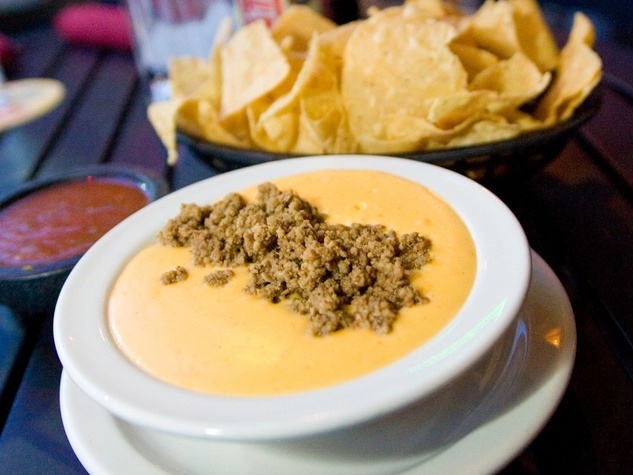 Molina's Cantina queso Jose's Dip with chips
