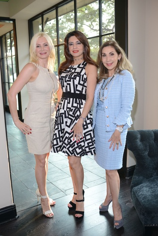 News, Shelby, HFAF party, August 2014, Ludmila Lumen, Parissa Mohajer, Pilar de la Garza