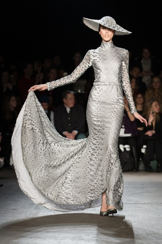 Christian Siriano fall collection look