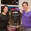 Suzette Nguyen and Brandon Weinbrenner at the Alley Young Professionals event October 2013