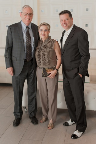 13 Ray Messer, from left, Elaine Messer and Kenn McLaughlin at the Stages Repertory Theatre Soiree Marie October 2014