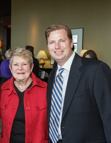 Penny Butler and Scott Butler at the Salvation Army annual luncheon November 2014