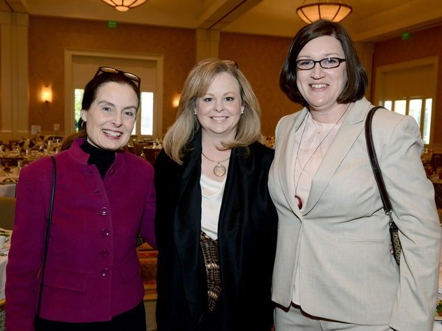 Dr. Ann Staton, Dean, College of Arts & Sciences, Dr. Genevieve West, Tawny Le Boeuf Tullia (scholarship recipient)