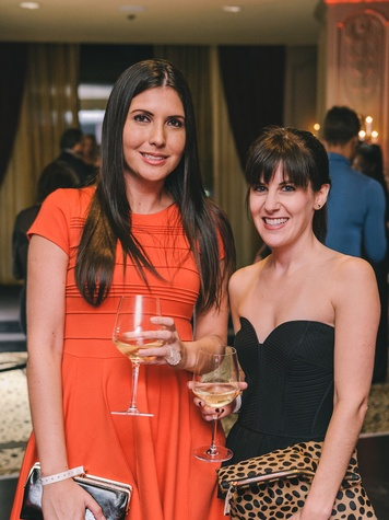 Carla de Rosmini, left, and Lauren Mills at the Fashion Houston Launch Party October 2013