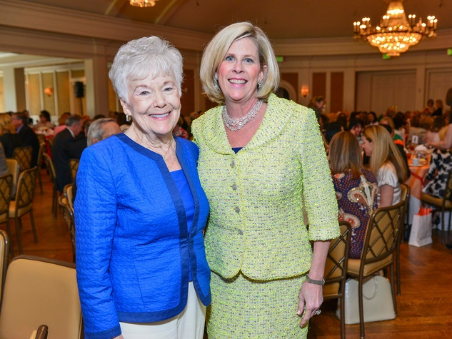 Ginger Kanaly, left, and Debbie Kanaly at the On the Move luncheon March 2014