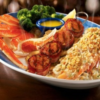 Seafood platter at Red Lobster