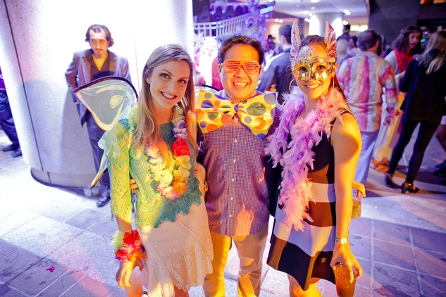 234 Dominique Masera, from left, Justin Manalansan and Adrienne DiRaddo at the Art Car Ball April 2015