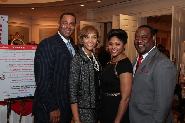 10 8313 Darrell and Shachella James, from left, and Miara and Maurice Shaw at the Houston A+ Challenge dinner December 2013