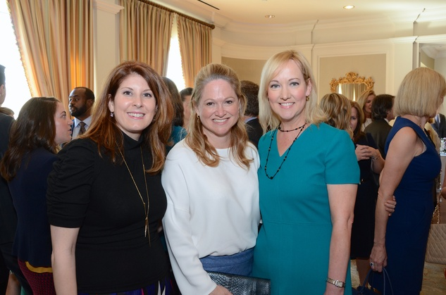 The Center luncheon, Feb. 2016, Christina Sacco, Kiki Wilson, Angie Holloway