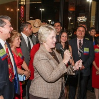 News, Shelby, Mayor's Hispanic Holiday Party, December 2014, Mayor Annise Parker