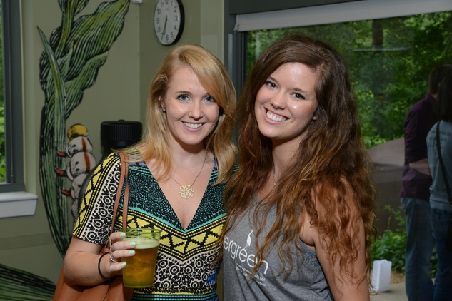 Houston Arboretum Evergreen party, May 2015, Carolyn Roney, Katie Campbell