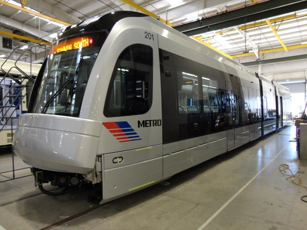 Houston METRO, new train car, October 2012