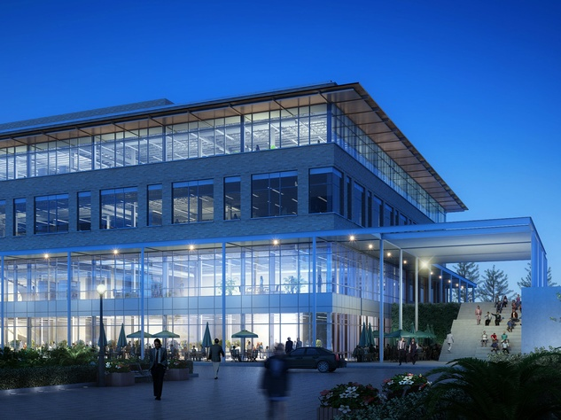 Rendering of Highland Mall Dillard's space into offices for Rackspace