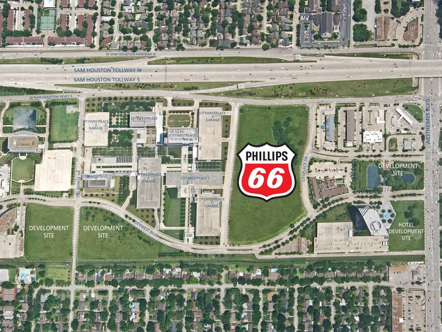 Phillips 66 map of new Energy Corridor headquarters with logo