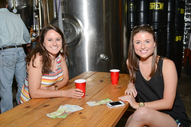 14. Emily Natoli, left, and Megan Lesser at the Bayou Preservation Association Herons party June 2014