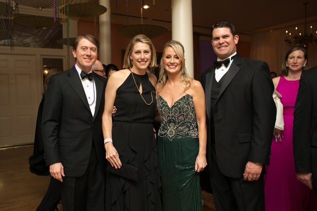 Junior League Gala, Feb. 2016, Jon Daly, Jennifer Daly, Amy Dunn, Kevin Comiskey