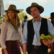 Charlize Theron and Seth MacFarlane in A Million Ways to Die in the West