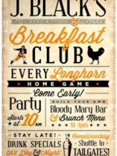 Austin photo: Events_J. Black's Breakfast Club_Poster