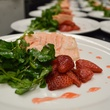 Davon, Champagne Friday, Veuve Cliquot dinner, October 2012, deconstructed salad, salmon, strawberries