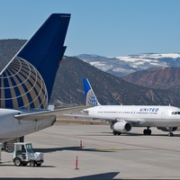 United Airlines at Eagle County Regional Airport outside Vail Colorado