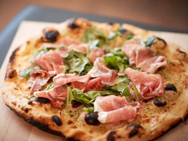 The Pass and Provisions Ham 'o' Day Pizza with ricotta, arugula and ham
