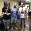 Drake and Lil Wayne concert September 2014 Backstage with Drake's childhood friends O.B. Brian and Ryan Silverstein