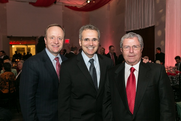 Paul Begala, from left, Dr. Ron DePinho and Tony Sanchez at the M.D. Anderson Living Legend in Washington, D.C. November 2013