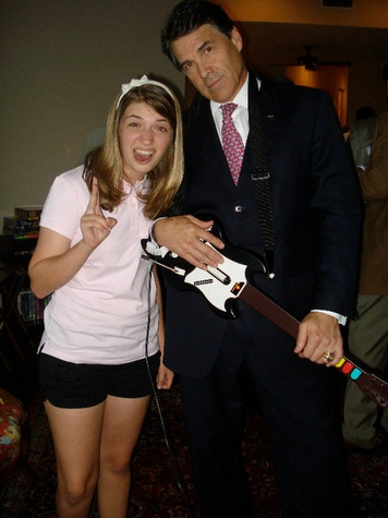 Rick Perry plays Guitar Hero
