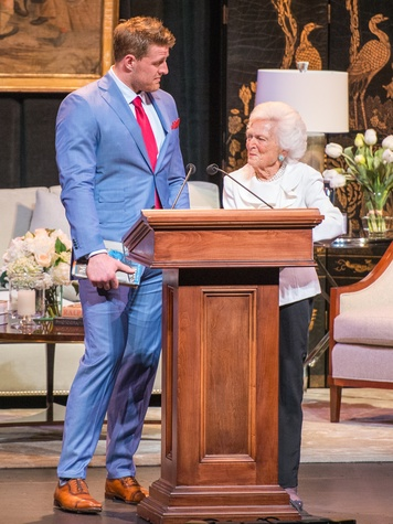 Celebration of Reading 4/16,  J.J. Watt, Barbara Bush