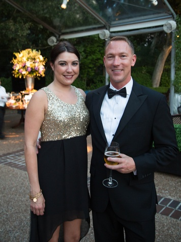 14 Brooke Cauthen and Fred Tyler at the Lamborghini party September 2014