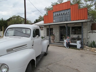 Market Revival exterior with an old fashion truck out front