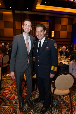 1 Adeeb Barqawi, left, and Adrian Garcia at the Teach for America event November 2014