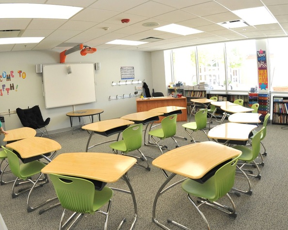 Interior of Beth Yeshurun Day School/Classroom