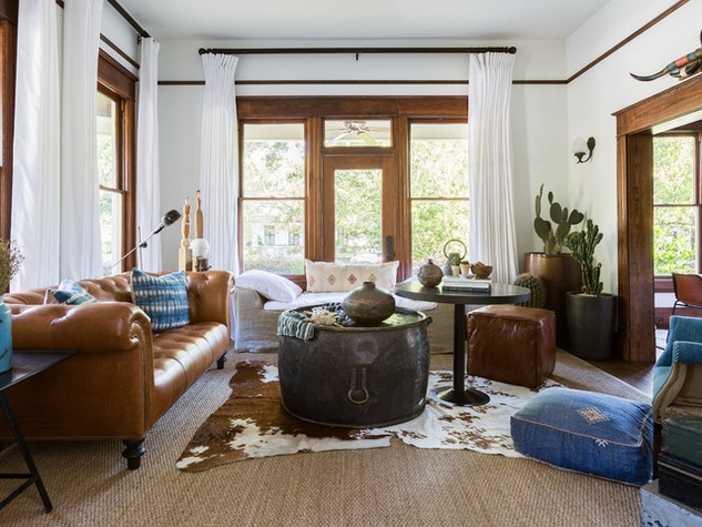 Houston Houzz Bohemian Chic Style Home For A New Family June 2017 The Living Room Sofa