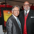 Gordon Quan, left, and Manson Johnson at the Mayor's Hispanic Heritage Awards event October 2014