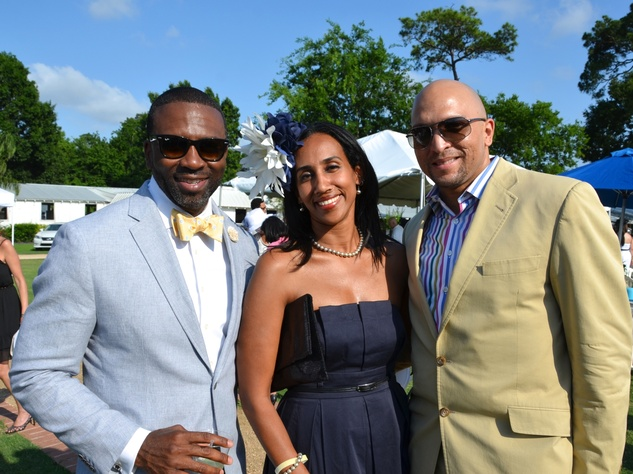 12 Houston Health Museum Young Professionals polo May 2013 Kenny Ozoude, Dr. Rahel Selassie, Ray Odom