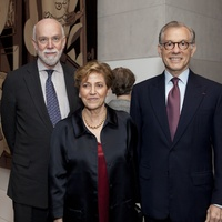 Picasso Black and White opening dinner, February 2013, Richard Armstrong, Carmen Giménez, Gary Tinterow
