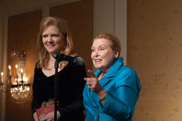 156 Alecia Lawyer, left, and Sharon Ley Lietzow at the River Oaks Chamber Orchestra Gala September 2014
