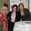 JoAnn Woodward, from left, Darcy Miller and Laurete Veres at the Bridal Extravaganza January 2014