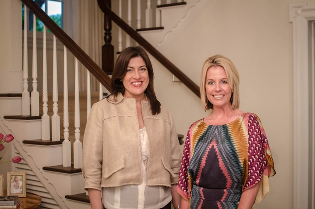 Texas Women for the Arts event at Sherri West's home