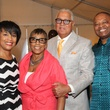 Eileen Lawal, from left, Shirley and Bernard Kinsey and Kase Lawal at the HMAAC Kinsey Collection reception August 2014