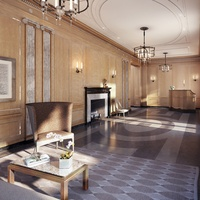 18 Gramercy Park, Leslie Alexander, lobby, rendering, October 2012, NYC penthouse