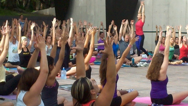 Yoga Jam at Museum of Fine Arts Houston Sculpture Garden