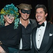 9 Lisa Tudor, from left, Michael Sichel and Milton Townsend Masks at the Houston Ballet Ball February 2015