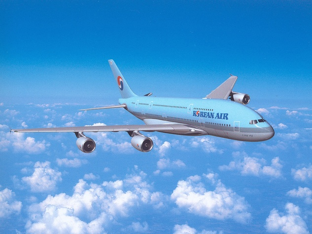 Korean Air airplane jet