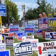 early voting, October 2012, signs