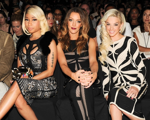 Herve Leger, Nicki Minaj, Katie Cassidy, Gloriana May,Mercedes-Benz Fashion Week, Sept. 2013
