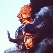 Big Tex on fire
