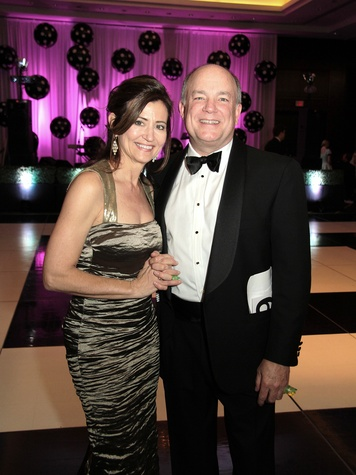 Cece McCann and Brian Parsley at West University Park Lovers Ball February 2014