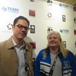 Adam Donaghey and Janis Burklund at Texas Film party at Sundance Film Festival January 2014